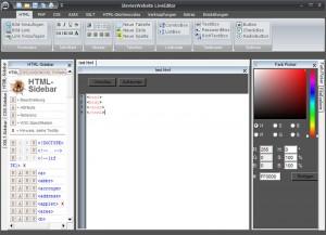 Screenshot des LiveEditors