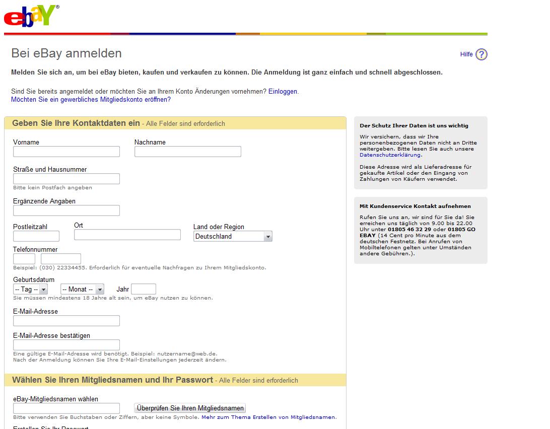 ebay.de anmeldung