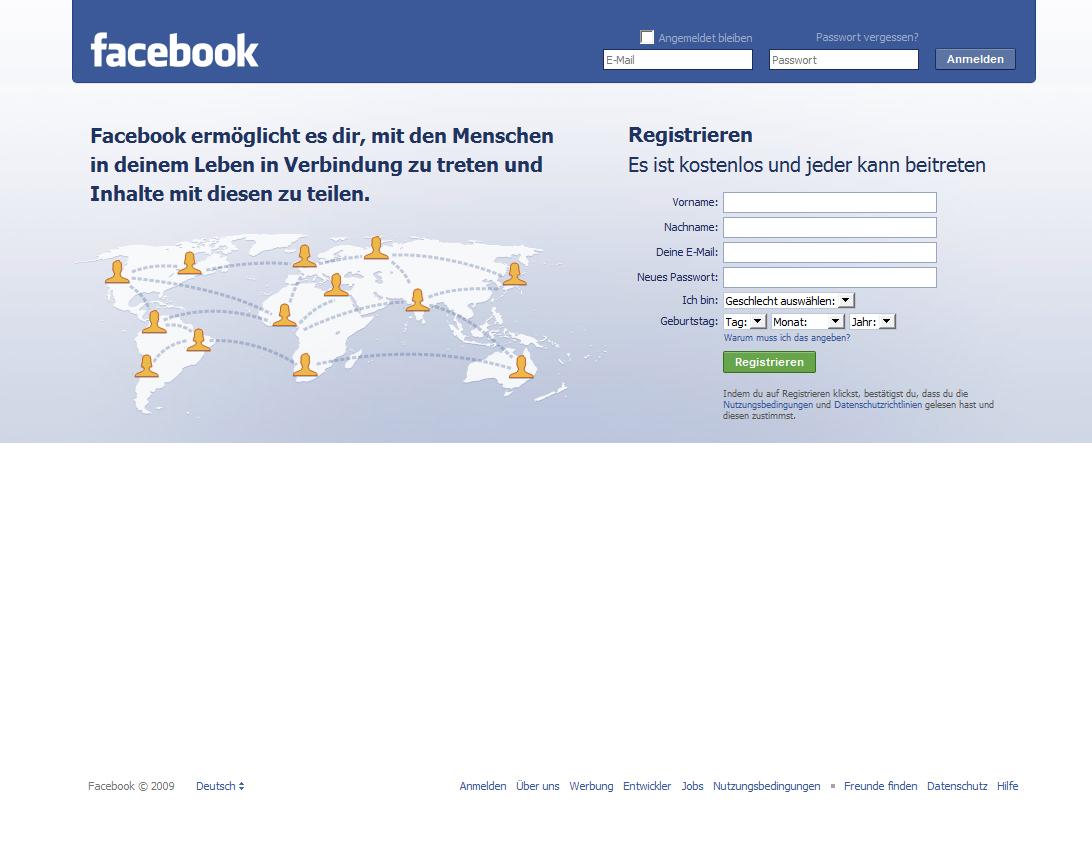 Facebookanmeldung