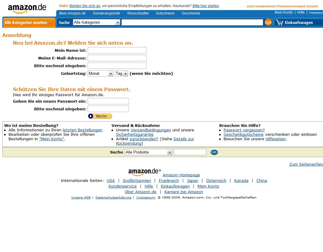Amazon Mögliche Kontosperrung